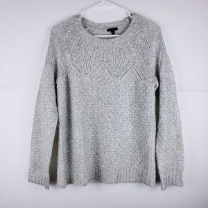 Talbots Knit Grey Long Sleeve Sweater Size Medium